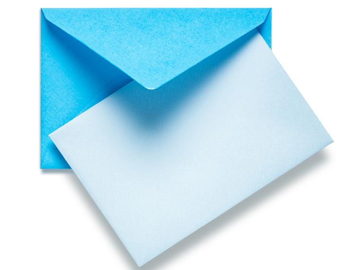 Kuvertieren mit schönen Kuverts macht dem Empfänger Freude. (Bild: © Irina Fischer - fotolia.com)