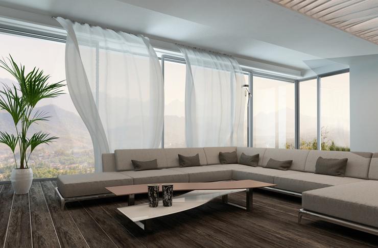 Vorhänge sind Sichtschutz und Dekoration zugleich. (Bild: Mihalis A. - fotolia.com)