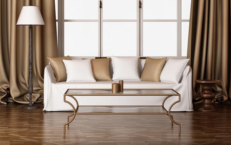 Edle Vorhänge vervollkommnen ein elegantes Interieur. (Bild: @ Mihalis A. - fotolia.com)
