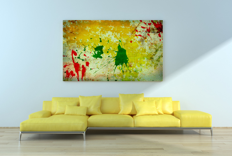 Auch farbige Polstermöbel sind sehr schön. (Bild: © 3darcastudio - Fotolia.com)
